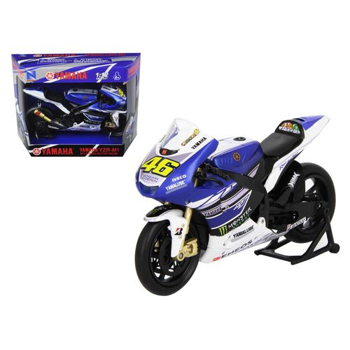 """2013 Yamaha YZR-M1 Valentino Rossi """"Monster"""" Moto GP #46 Motorcycle Model 1/12 by New Ray"""