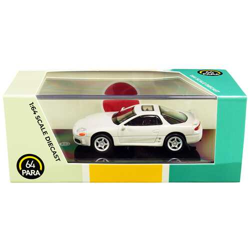 Mitsubishi 3000GT GTO Glacier White Pearl 1/64 Diecast Model Car by Paragon