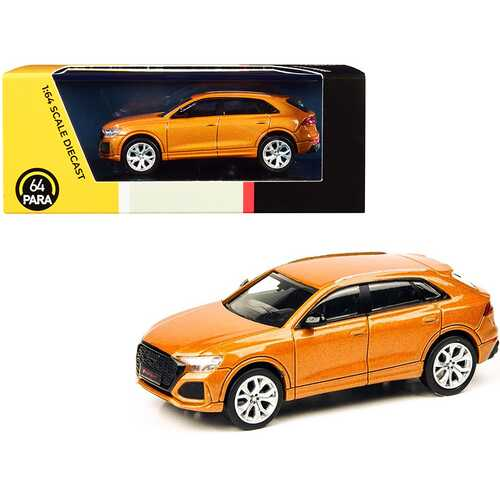 Audi RS Q8 Dragon Orange Metallic 1/64 Diecast Model Car by Paragon