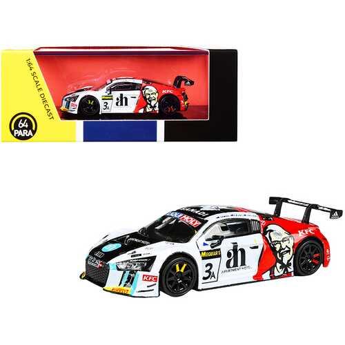 "Audi R8 LMS #3 Ash Samadi - Daniel Gaunt - Matt Halliday ""KFC"" Bathurst 12 Hour (2017) 1/64 Diecast Model Car by Paragon"