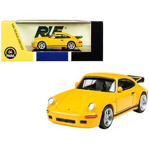 1987 RUF CTR Yellowbird Blossom Yellow 1/64 Diecast Model Car by Paragon