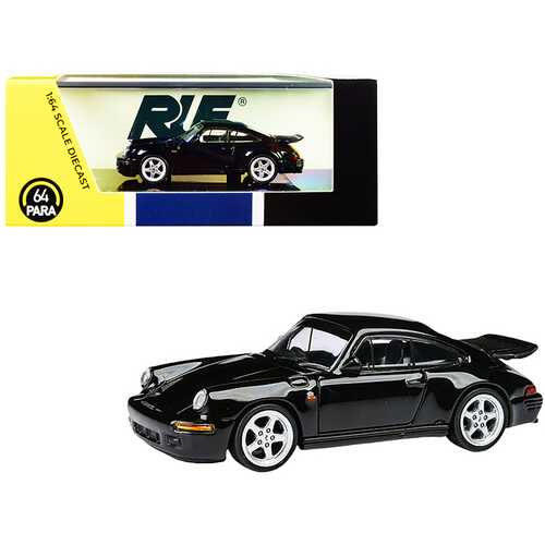 1987 RUF CTR Yellowbird Black 1/64 Diecast Model Car by Paragon