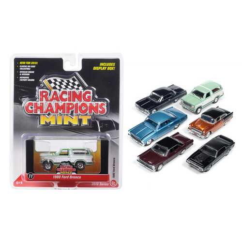 Mint Release 2 Set D Set of 6 cars 1/64 Diecast Model Cars by Racing Champions