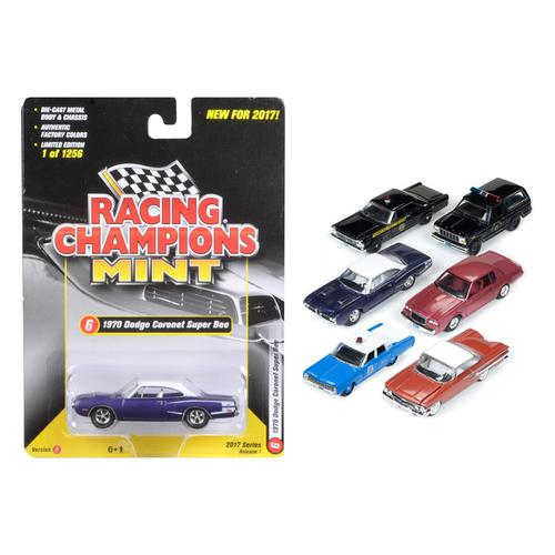 Mint Release 2017 Set C Set of 6 cars 1/64 Diecast Model Cars by Racing Champions