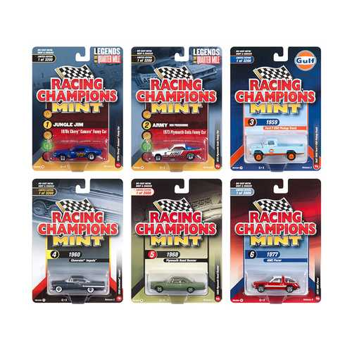 2018 Mint Release 2 Set A of 6 Cars 1/64 Diecast Models by Racing Champions