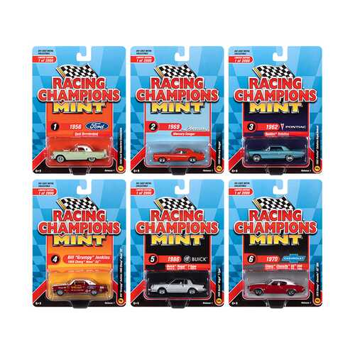 Mint 2020 Release 1 6 piece Set Limited Edition to 2000 pieces Worldwide 1/64 Diecast Model Cars by Racing Champions