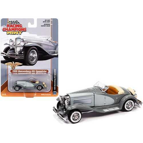 1935 Duesenberg SSJ Speedster Dark Gray and Light Gray 1/64 Diecast Model Car by Racing Champions