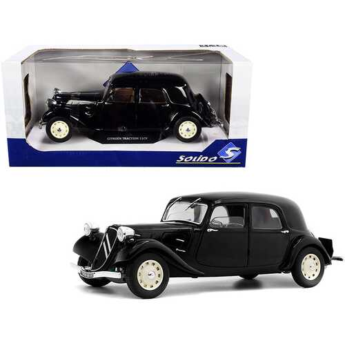 Citroen Traction 11CV Black 1/18 Diecast Model Car by Solido