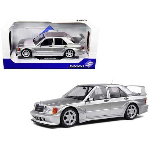 1990 Mercedes Benz 190E 2.5-16 Evolution II (W201) Silver 1/18 Diecast Model Car by Solido