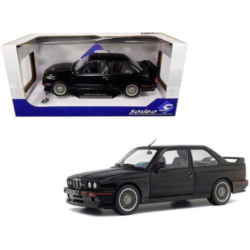 1990 BMW E30 Sport Evo Black 1/18 Diecast Model Car by Solido