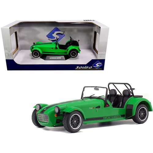 Caterham Seven 275R Green Metallic with Black Stripes 1/18 Diecast Model Car by Solido