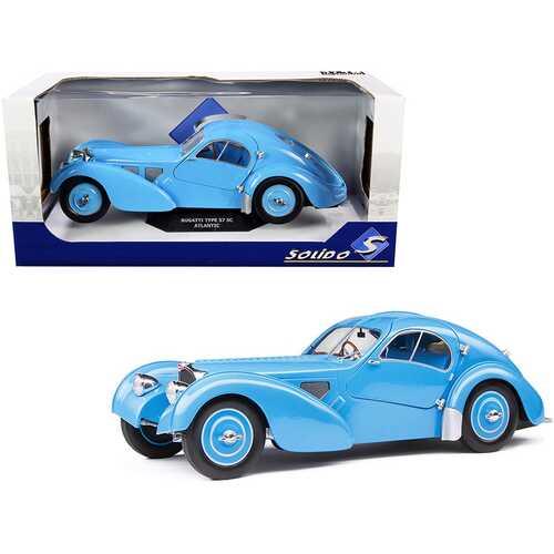 1937 Bugatti Type 57 SC Atlantic RHD (Right Hand Drive) Light Blue 1/18 Diecast Model Car by Solido
