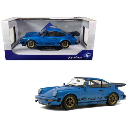 1984 Porsche 911 Carrera 3.0 Coupe Minerva Blue Metallic 1/18 Diecast Model Car by Solido