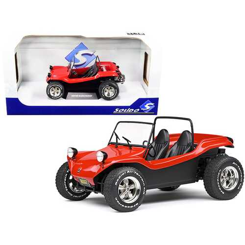 1968 Meyers Manx Buggy Convertible Red 1/18 Diecast Model Car by Solido