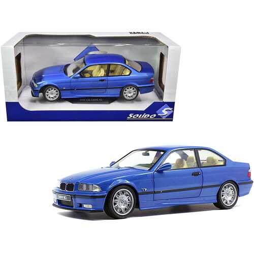 1994 BMW E30 M3 Blue Estoril Metallic 1/18 Diecast Model Car by Solido