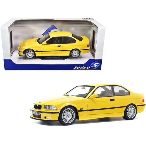 1994 BMW E30 M3 Jaune Dakar Yellow 1/18 Diecast Model Car by Solido