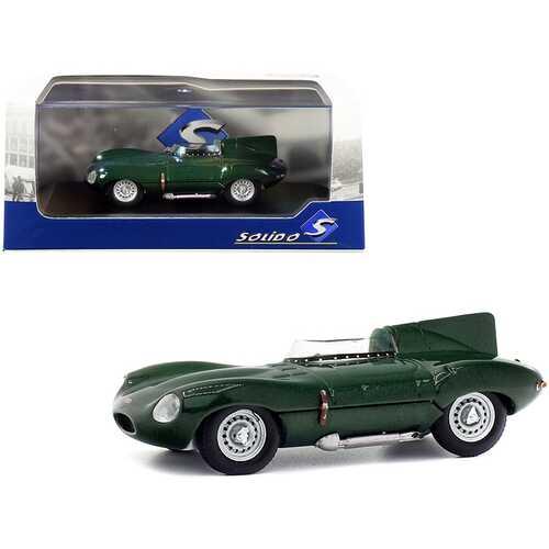 1952 Jaguar D-Type Green Metallic 1/43 Diecast Model Car by Solido
