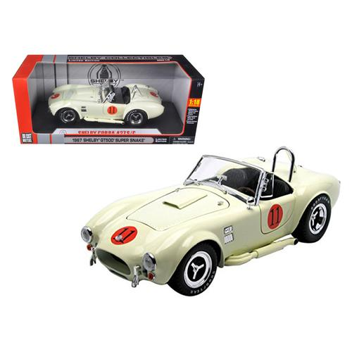 1965 Shelby Cobra 427 SC Cream #11 Limited Edition 1/18 Diecast Model Car by Shelby Collectibles