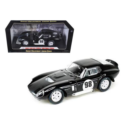 1965 Shelby Cobra Daytona Black #98 1/18 Diecast Car Model by Shelby Collectibles