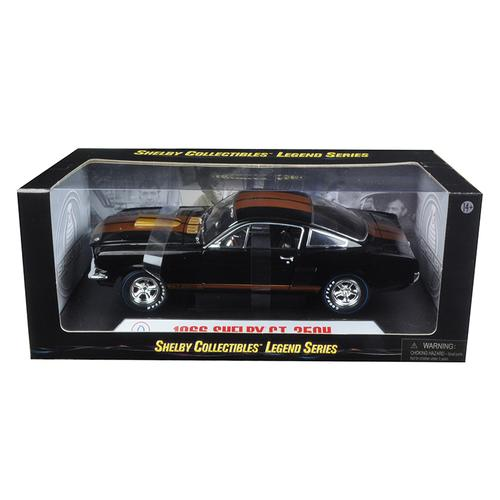 1966 Ford Shelby Mustang GT350H Hertz Black with Racing Wheels 1/18 Diecast Model Car by Shelby Collectibles