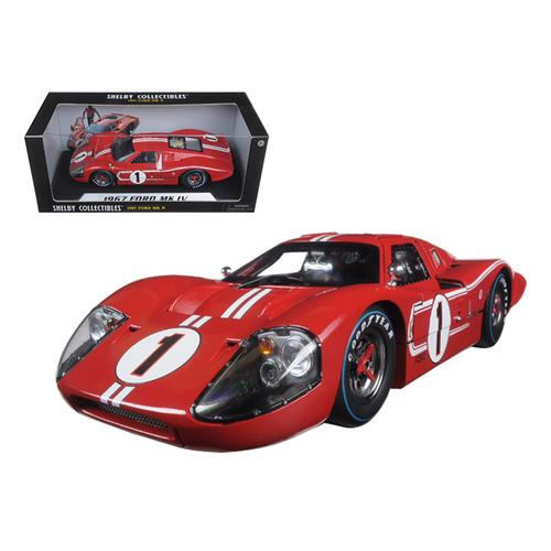 1967 Ford GT MK IV #1 Red Le Mans Winner 24 Hours 1/18 Diecast Model Car by Shelby Collectibles