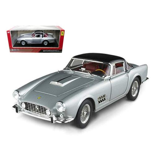 Ferrari 410 Superamerica Silver 1/18 Diecast Car Model by Hotwheels