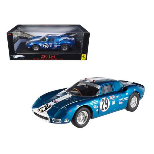 Ferrari 250 LM 12 Hours of Sebring 1965 #29 Elite Edition 1/18 Diecast Car Model by Hotwheels