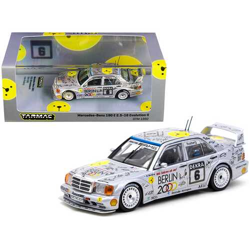 "Mercedes Benz 190E 2.5-16 Evolution II #6 Keke Rosberg ""Deutsche Tourenwagen Meisterschaft"" DTM (1992) 1/64 Diecast Model Car by Tarmac Works"