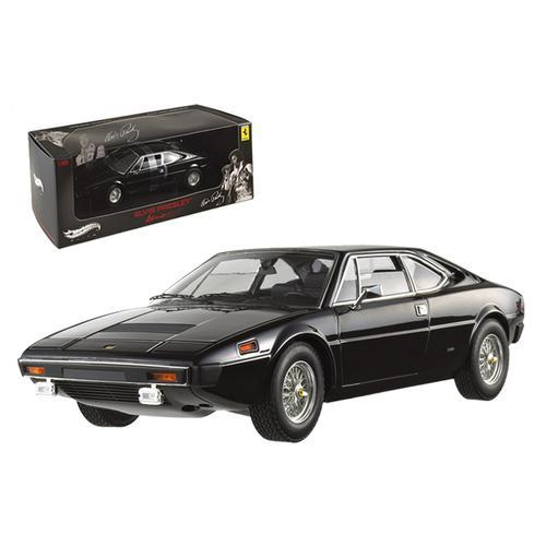 Ferrari Dino 308 GT4 Elvis Presley Owned Black Elite Edition 1/18 Diecast Model Car by Hotwheels