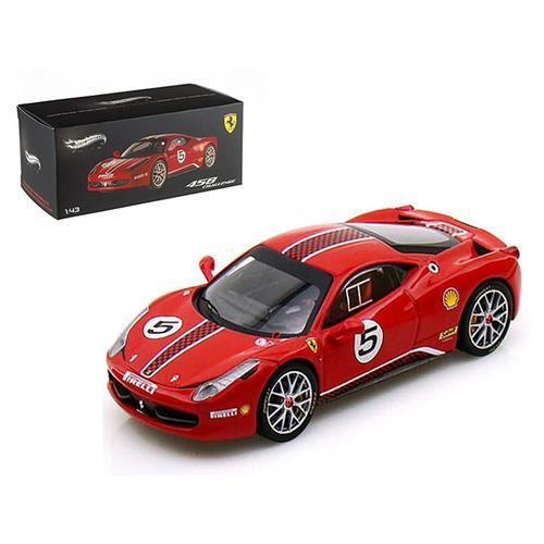 Ferrari 458 Italia Challenge #5 Red Elite Edition 1/43 Diecast Car Model by Hotwheels