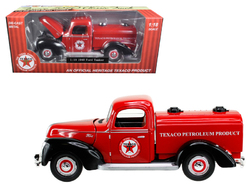 """1940 Ford Tanker """"Texaco"""" Red 1/18 Diecast Model Car by Beyond Infinity"""