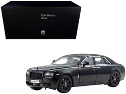 Category: Dropship Die Cast Model Cars And Trucks, SKU #08802DBK, Title: Rolls Royce Ghost Diamond Black 1/18 Diecast Model Car by Kyosho