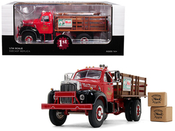 Mack B-61 Stake Bed Truck with Two Kraft Boxes 1/34 Diecast Model by First Gear