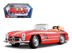 1957 Mercedes 300SL Touring Convertible Red 1/18 Diecast Model Car by Bburago