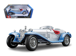 1932 Alfa Romeo 8C 2300 Spider Touring Silver 1/18  Diecast Model Car by Bburago