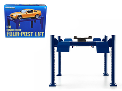 Four Post Lift Blue for 1/18 Scale Diecast Model Cars by Greenlight