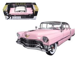 "1955 Pink Cadillac Fleetwood Series 60 Special ""Elvis Presley"" 1/18 Diecast Model Car by Greenlight"