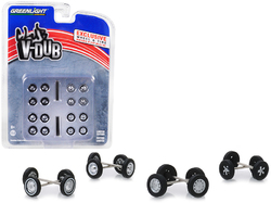 """""""Volkswagen"""" Wheel and Tire Multipack """"Club Vee-Dub"""" Set of 24 pieces 1/64 by Greenlight"""