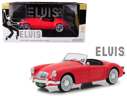 "1959 MG A 1600 Roadster MKI Red ""Blue Hawaii"" (1961) Movie ""Elvis Presley"" Series (1935-1977) 1/18 Diecast Model Car by Greenlight"
