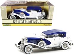 Duesenberg II SJ Blue and White 1/18 Diecast Model Car by Greenlight