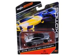 """2012 Acura NSX Gray """"Exotics"""" 1/64 Diecast Model Car by Maisto"""