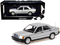 1982 Mercedes Benz 190E (W201) Silver Metallic Limited Edition to 504 pieces Worldwide 1/18 Diecast Model Car by Minichamps