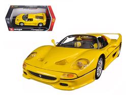 Ferrari F50 Yellow 1/18 Diecast Model Car by Bburago