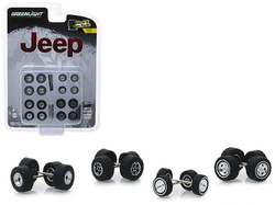 """""""Jeep"""" Wheel and Tire Multipack Set of 24 pieces """"Wheel & Tire Packs"""" Series 1 1/64 by Greenlight"""