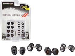 """Dodge"" Wheels and Tires Multipack Set of 24 pieces ""Wheel & Tire Packs"" Series 4 1/64 by Greenlight"