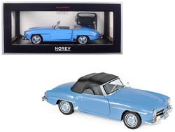 1957 Mercedes Benz 190 SL Cabriolet Blue 1/18 Diecast Model Car by Norev
