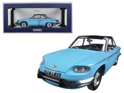 1964 Panhard 24 CT Tolede Blue and Black 1/18 Diecast Model Car by Norev
