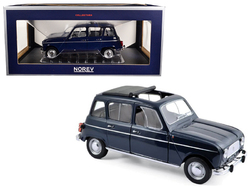 1965 Renault 4 Copenhague Blue 1/18 Diecast Model Car by Norev