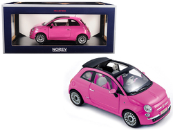 2010 Fiat 500 Pink 1/18 Diecast Model Car by Norev