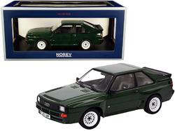 1985 Audi Sport Quattro Dark Green 1/18 Diecast Model Car by Norev